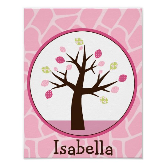 Jungle Jill /Tree Personalised Art Poster