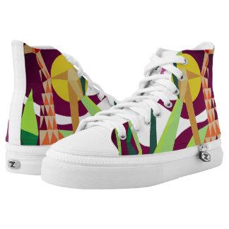 Jungle Joy Zipz High Top Shoes one Side Printed Shoes
