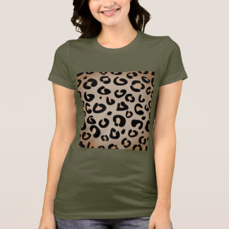 Jungle kaki tshirt with Jaguar pattern