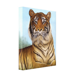 Jungle King Stretched Canvas Print