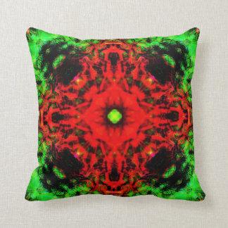 Jungle lava mandala cushion