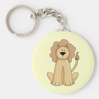 Jungle Lion Basic Round Button Key Ring