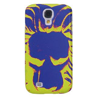 Jungle Lion navy amd yellow phone case