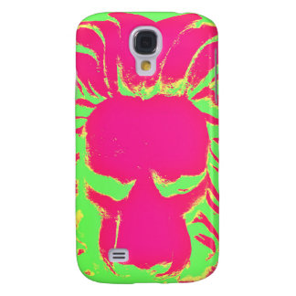 Jungle Lion pink and green phone case