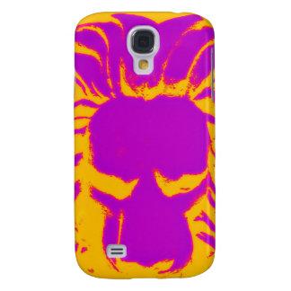 Jungle Lion purple and orange phone case