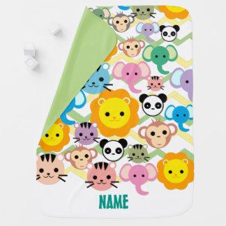 jungle, lion, tiger, elephant, monkey Baby Blanket