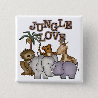 Jungle Love 15 Cm Square Badge