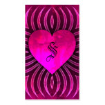 Jungle Love Passion Heart Business Card