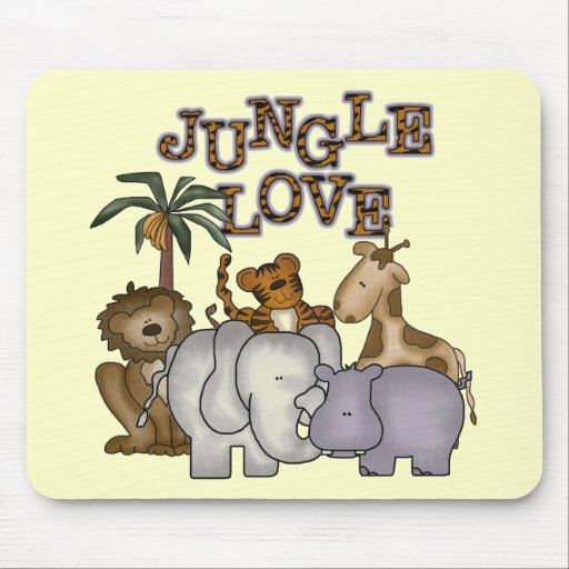 Jungle Love Tshirts and Gifts Mouse Pad