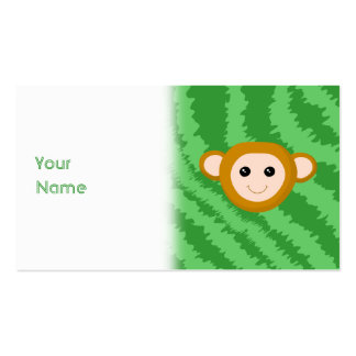 Jungle Monkey, Face. Pack Of Standard Business Cards