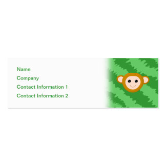 Jungle Monkey, Face. Pack Of Skinny Business Cards