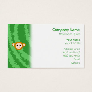 Jungle Monkey, Face. Business Card