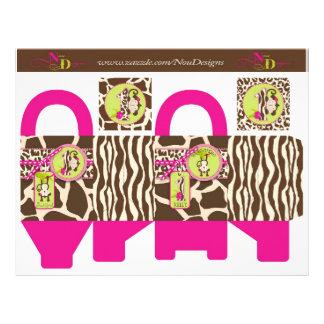 Jungle Monkey Favor Box 1 21.5 Cm X 28 Cm Flyer