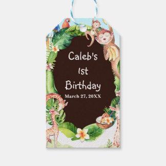 Jungle Monkey & Giraffe Baby Shower Custom Favor Gift Tags