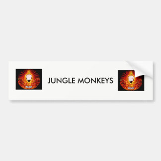 JUNGLE MONKEYS BUMPER STICKER