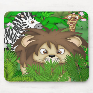 JUNGLE MURAL MOUSE PAD WITH ZOO ANIMALS