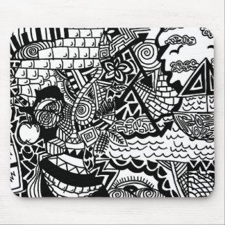 Jungle Ocean Doodle Mousepad