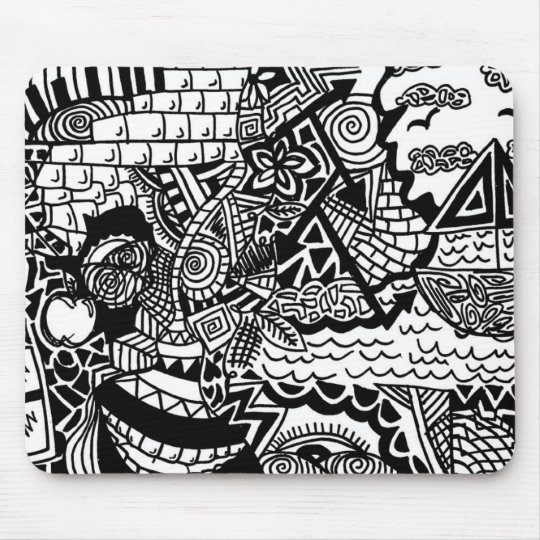 Jungle Ocean Doodle Mousepad