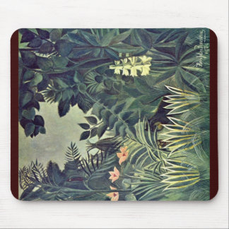 Jungle On The Equator By Rousseau Henri Mouse Mat