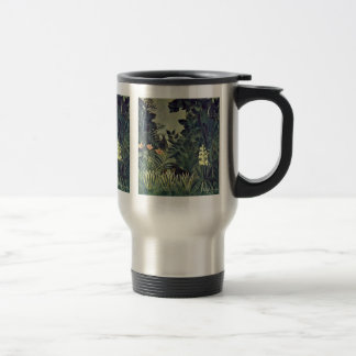 Jungle On The Equator By Rousseau Henri Stainless Steel Travel Mug