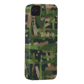 Jungle Paint Stroke Camouflage iPhone 4 Case-Mate Case