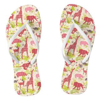 Jungle paradise flip flops