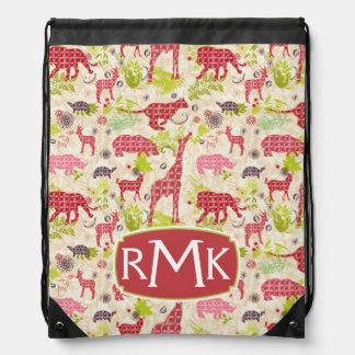 Jungle paradise | Monogram Drawstring Bag