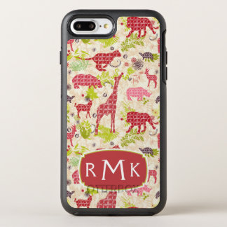 Jungle paradise | Monogram OtterBox Symmetry iPhone 8 Plus/7 Plus Case