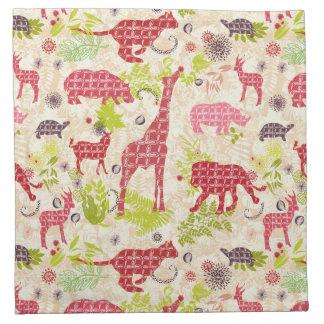 Jungle paradise napkin