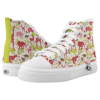 Jungle paradise printed shoes
