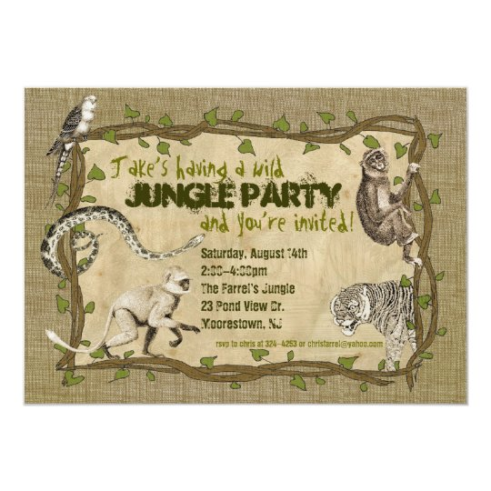 Jungle Party Invitation