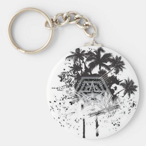 Jungle pattern keychains