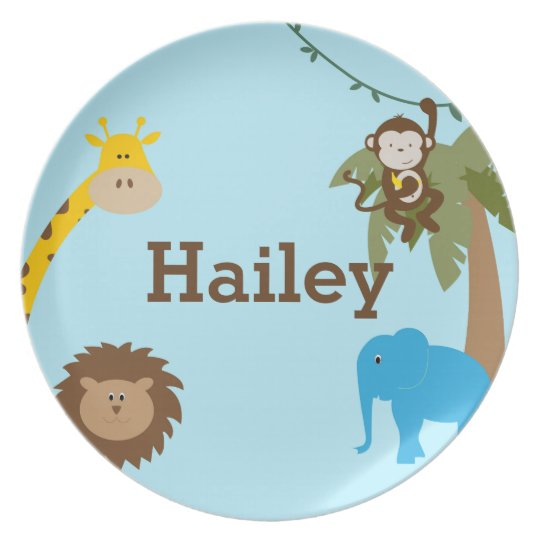 Jungle Plate - Personalised with Child's Name