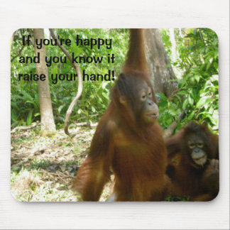 Jungle Primate Animal Happy Nursery Rhyme Mouse Mat
