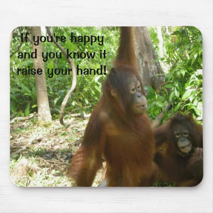 Jungle Primate Animal Happy Nursery Rhyme Mouse Pad