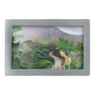 Jungle Reflection Rectangular Belt Buckle