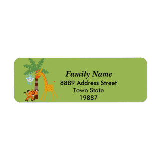 Jungle return Address Sticker
