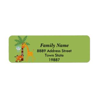 Jungle return Address Sticker Return Address Label