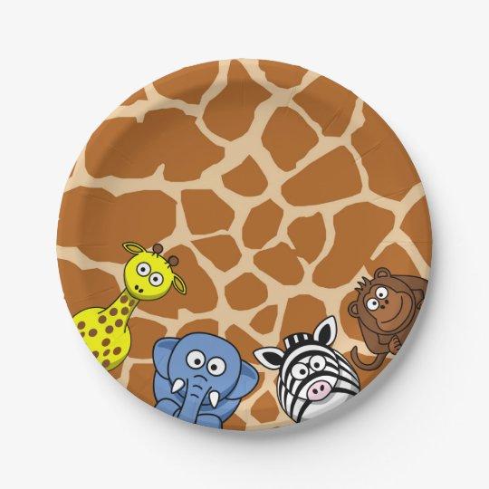 Jungle safari animal neutral baby shower birthday paper