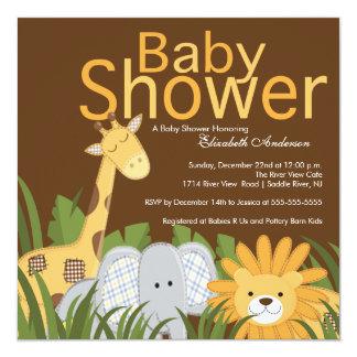 Jungle Safari Animal Neutral Baby Shower Custom Invite