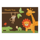 Jungle Safari Baby Shower Note Card Greeting Card