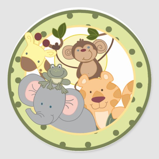 Jungle Safari Favour Stickers Decoration