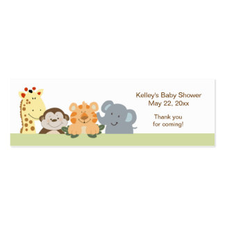 Jungle Safari Green Party Favor Tag Business Card Template