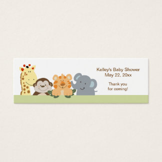 Jungle Safari Green Party Favor Tag Mini Business Card