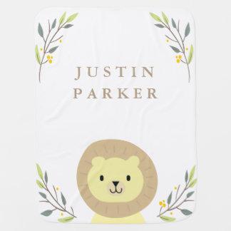 Jungle Safari Lion Baby Blanket