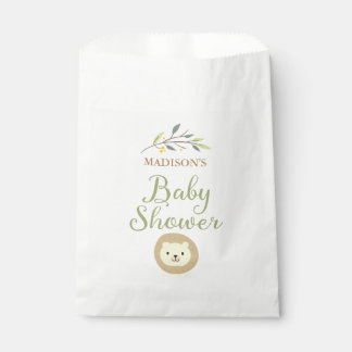 Jungle Safari Lion Baby Shower Favor Bags Favour Bags