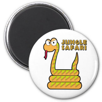 Jungle Safari - Snake 6 Cm Round Magnet