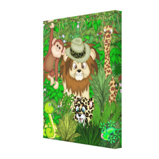 Jungle  Safari Wrapped Canvas Stretched Canvas Print