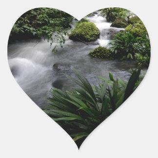 Jungle Stream River Landscape Amazon Heart Sticker
