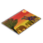 Jungle Sunset Spiral Notebooks